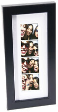 WEDDING FAVOR - Black Photo Booth Frame - Holds 1- 2x6 Photo with Mat to DisplaY