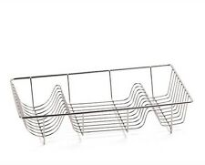 NEW CHROME LARGE METAL WIRE DISH DRAINER PLATE DRAINING RACK