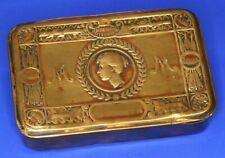 1914 Princess Mary WW1 Christmas brass chocolate cigarette tin *[18884]