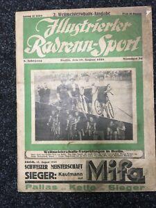 Altes Fahrrad Illustrierter Radrenn-Sport v.1928 Opel Brennabor Triumph Dunlop