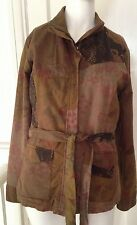 Branded Womens Single Breasted Fashion Jacket size 8/10 brown with belt