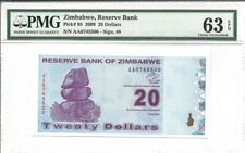 Zimbabwe, 20 Dollars, 2009, P-95, Uncirculated PMG 63 EPQ