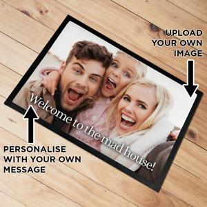 Personalised Photo Upload Door Mat floor mat 60 x 40 cm Add Any Photo & Text