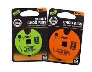 Fox Edges Arma Point Pre Tied Ready Rig Stiff Chod Rig Standard/Short x3