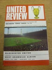 02/04/1969 Manchester United v West Bromwich Albion  (Faint Crease). Footy Progs