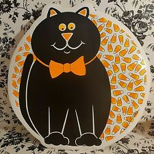 VTG 90s Halloween Black Cat Placemat Padded Vinyl 5 Spooky Liz Wain Candy Corn