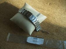 Seiko 22mm Reloj Correa de acero inoxidable sólido cepillado mogv 421JO