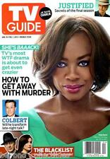 TV GUIDE - VIOLA DAVIS - HOW TO GET AWAY WITH MURDER - JUSTIFIED - THE BLACKLIST