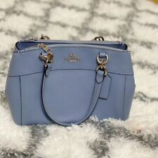 New Coach F25395 MINI BROOKE Carryall Satchel Handbag Purse Bag Pool Blue $350