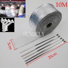 10m High Heat Insulation Fiberglass Wrap Exhaust Header Pipe Tape Cloth Silver