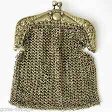 Coin Purse Clutch Bag Vintage Ladies Evening Lady's Compact Mesh Wallet 1930s