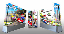 Skin Sticker Cover For NintendoWii Console and 2 Remotes Mario Kart 217
