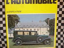 FANATIQUE AUTO n°79 1975 DELFOSSE / RENAULT1998-1914 / SINGER SM 1500 / GERMAIN