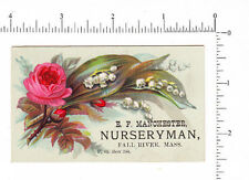 4414 E. F. Manchester nursery trade card, Fall River, MA, lily of the valley