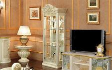 Vitrine Wohnzimmerschrank Leonardo Barockstil Hochglanz Italienische Stil Möbel
