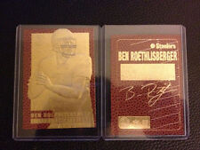 THE GREATEST BEN ROETHLISBERGER STEELERS 23k GOLD CARD EVER