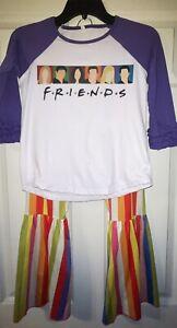 Girls clothing size 8/9, outfit, set, Friends, top, pants, bts, Boutique