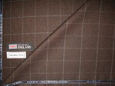 6-PLY PURE WOOL COUNTRY SPORTING CLASSIC TWEED AS FANCY PLAID DESIGN FABRIC-6.2m
