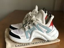 Authentic Louis Vuitton Archlight Runway White Leather Sneakers Size EU 39 US 9