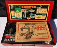 Vintage 1935 The Great New Erector Set - 90% Complete