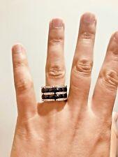 Bague Céramique noir et diamant Or Blanc 18 Carats  Grand model