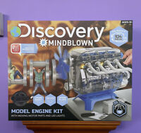 Discovery Mindblown Model Engine Kit STEM 104 Piece Kit Ages 8+ Moving Parts NEW