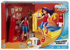 DC Super Hero Girls Wonder Woman 6 In Doll Action Figure Bedroom Set Playset