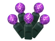 50ct LED Faceted String Light Set - Purple