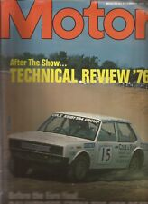 Motor Magazine 6.11.76. Chrysler Avenger 1600 Super. 1976 Formula One Season.