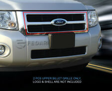 For 08-12 Ford Escape Black Billet Grille Grill Upper Insert Fedar