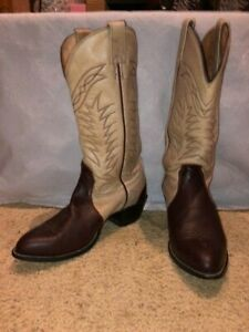 MENS ALBERTA BOOT COMPANY LEATHER BURGUNDY 10.5 EE WESTERN BOOTS MADE IN CANADA
