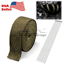 "Titanium Exhaust Pipe Insulation Thermal Heat Wrap 2""x50' Motorcycle Header"