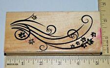 Flourish Flower Border Hero Arts Background Wood Foam Rubber Stamp
