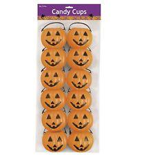 Halloween Kürbis Kessel für Süßigkeiten Schale 12 Stück Hexenkessel Horror-Deko