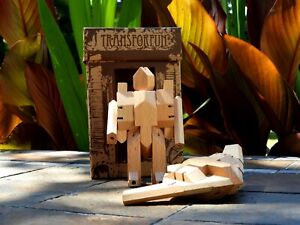 WooBot - Wooden Robot Transforms into a Stealth Fighter