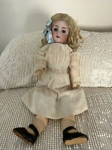 """Vtg Antique Simon & Halbig Germany Bisque Doll 19"""" Ball Joint Blonde Hair"""
