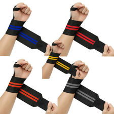 Power Weight Lifting Wrist Thumb Wrap Support Gym Training Fist Strap Bar Brace