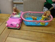 🎅BARBIE pool &swimming dog set with a  her glam friend driving a jeep  🎅