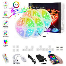 65.6ft/20M LED Strip Lights bluetooth, 5050 RGB LED Lights Strip  Sync to Music