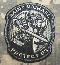 MODERN SAINT ST. MICHAEL PROTECT US TACTICAL USA ARMY MORALE ACU VELCRO PATCH