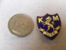 Vintage Enamel Badge Pin KM Club Rearing horse Miller Branston Street Birmingham