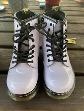 Girls  Dr Martens Brooklee Purple Heather Patent Leather Infant Size 8