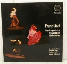 "LISZT VIER UNGARISCHE RAPSODIE PER ORCHESTRA ANATOL FISTOULARI 12"" LP (c227)"
