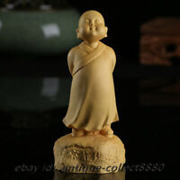 40MM Antique Chinese Bronze Taoism Myth Ma Zu Matsu Goddess Stand Small Statue