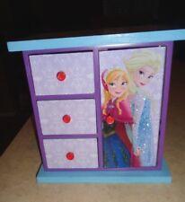 "Disney Frozen Jewelry Box Wooden 6"".5"" X 6"".5"" Nice Condition"