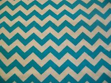 Blue & White Chevron Cotton Snuggle Flannel  Fabric - By the Yard