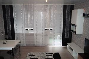 Wohnzimmer,   Grau-schwarz/weiss, 9-tlg. Gardinen set nr. 104
