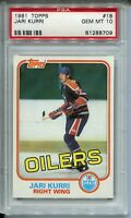 1981 Topps Hockey #18 Jari Kurri Rookie Card RC PSA Graded Gem Mint 10 Oilers
