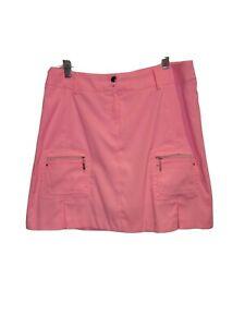 Jamie Sadock Golf Womens Sz 12 Neon Pink Skirt Skort