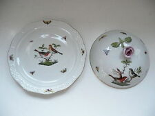 Herend porcelain Covered Muffin Dish - Rothschild RO pattern